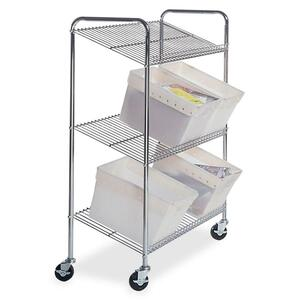 Mayline Mailflow Systems Wire Tote Cart MLNCTT2