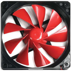 Thermaltake A2492 TurboFan 120MM 1400RPM 50CFM 17DBA Sleeve Bearing 4PIN Cooling Fan Red Black