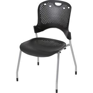 "Balt Circulation Armless Stacking Chair - 25"" x 23.75"" x 34"" - Polypropylene Black Seat"
