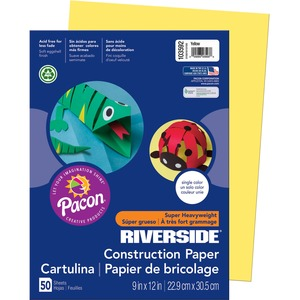 "Riverside Groundwood Construction Paper - 9"" x 12"" - Yellow"