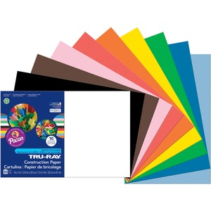 "Pacon Tru-Ray Sulphite Construction Paper - 12"" x 18"" - Assorted"