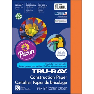 "Pacon Tru-Ray Construction Paper - 9"" x 12"" - Orange"