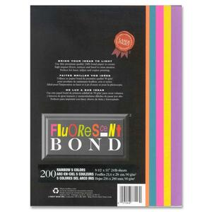 Fluorescent Bond Rainbow Colors Printed Laser Paper