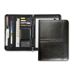 3-Point Zipper Leather Portfolio