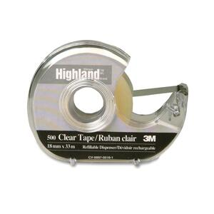 Highland Crystal Clear Transparent Tape