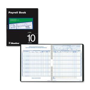 Ten Employees Payroll Book