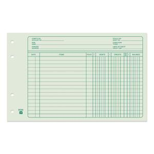 Bilingual Ledger Sheet