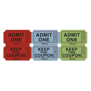 Admit One Ticket with Attached Coupons