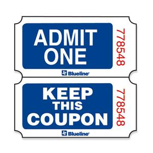 Admit One Single Coupon Ticket