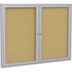 2-Door Enclosed Bulletin Board