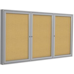 3-Door Enclosed Indoor Bulletin Board