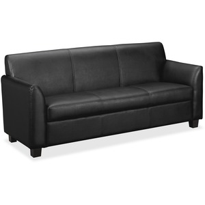 "Basyx VL870 Series Reception Sofa - Plywood Frame73"" x 28.75"" x 32"" - Leather Black Seat"