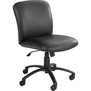 "Safco Uber Big and Tall Mid-back Management Chair - Black Frame27"" x 30"" x 36.5"" - Vinyl Black Seat"