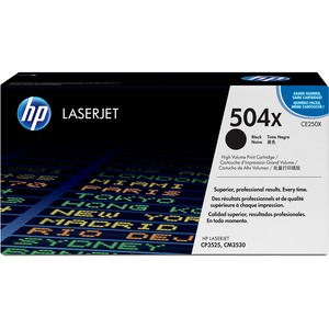 HP 504X High Yield Black Original LaserJet Toner Cartridge HEWCE250X