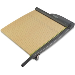 "Swingline GTII Heavy-duty Paper Trimmer - Cuts 15 Sheet - 18"" Cutting Length - Metal Handle, Stainless Steel Blade, Wood Base - Gray, Oak"