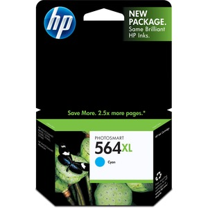 HP 564XL High Yield Cyan Original Ink Cartridge HEWCB323WN