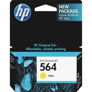 HP No. 564 Yellow Ink Cartridge For PhotoSmart D5460 Printer - Inkjet - 300 Page - Yellow