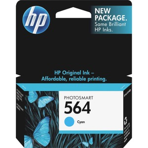 HP No. 564 Cyan Ink Cartridge - Inkjet - 300 Page - Cyan