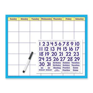 Trend Wipe-off Calendar Kit Cling Numeral TEPT27802