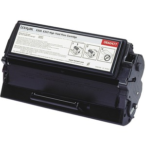 Lexmark Black Toner Cartridge - Laser - 6000 Page - Black - 1