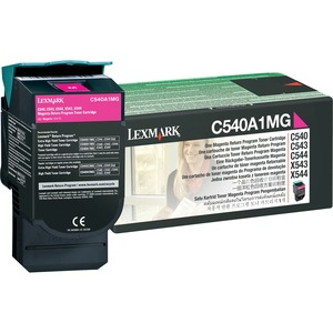 Lexmark Return Magenta Toner Cartridge LEXC540A1MG