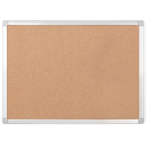 Bi-silque S.a Mastervision Aluminum Frame Recycled Cork Boards - 36 Height X 48 Width - Natural Cork Surface - Wood Frame - 1 Each