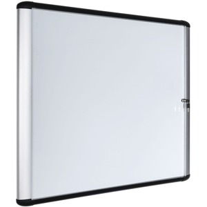 Bi-silque S.a Mastervision Swing Door Enclosed Dry-erase Board - 39 (3.3 Ft) Width X 48 (4 Ft) Height - White Porcelain Steel Surface - Aluminum Frame - Rectangle - 1 Each