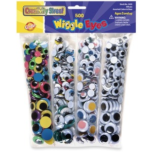 ChenilleKraft Wiggle Eyes - 500 Piece(s) - Assorted