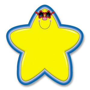 "Carson-Dellosa Star Cutout Shape - 36 Star - 5.25"" x 5.25"" - Yellow, Blue"