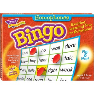 Trend Homonyms Bingo Game TEP6132