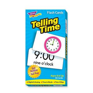 Trend Telling Time Flash Card TEP53108