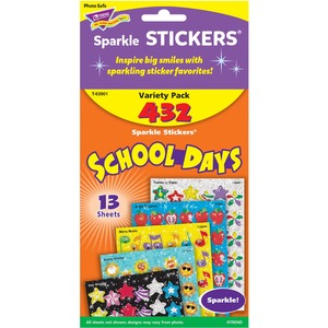 Trend School Days Variety Pack Sparkle Sticker TEP63901