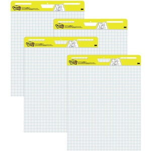 "Post-it Self-Stick Easel Pad - 30 Sheet(s) - Ruled - 25"" x 30"" - 4 / Carton - White"