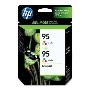 HP 95 2-pack Tri-color Original Ink Cartridges HEWCD886FN