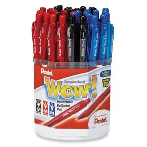 Pentel Wow Retractable Ball Point Pen Display PENBK4403