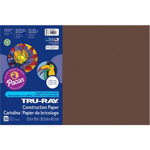 "Tru-Ray Construction Paper - 12"" x 18"" - Dark Brown"
