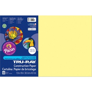 "Tru-Ray Construction Paper - 18"" x 12"" - Light Yellow"