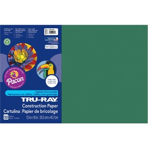 "Tru-Ray Construction Paper - 12"" x 18"" - Dark Green"