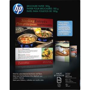 HP INC. - PAPER 150-SHEET 8.5X11IN GLOSSY 48LB INKJET