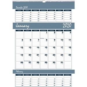 House of Doolittle Bar Harbor Triple Month Wall Calendar HOD342