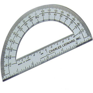 "Save 68% on CLI 6"" Open Center Protractor Plastic – Clear by Clary Business Machines"