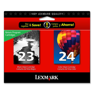 Lexmark No. 23/24 Black and Color Twin Pack Ink Cartridges LEX18C1571