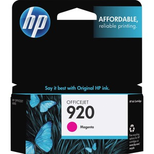 HP 920 Magenta Original Ink Cartridge HEWCH635AN