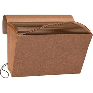 "Sparco A-Z Accordion File - 8.5"" x 11"" - Letter - 1 Each - Brown"