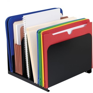 "MMF Steelmaster 2645004 Vertical Organizer - 8.12"" x 12"" x 11"" - 5 Compartment(s) - Steel - Black"