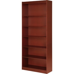"Lorell Seven Shelf Panel Bookcase - 36"" Width x 12"" Depth x 84"" Height - Wood - Cherry"
