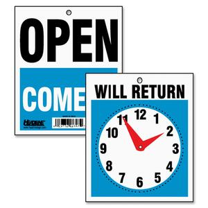 Will Return Sign with Clock Hand