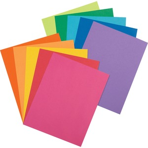 "Pacon Array Jumbo Pack Assortment Card Stock Paper - Letter - 8.5"" x 11"" - 65lb - 250 / Pack - Violet, Pumpkin, Hyper Orange, Rojo Red, Lime, Lemon Yellow, Hot Pink, Cobalt Blue, Marine Blue, Emerald Green"