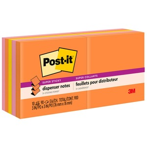Post-it Super Sticky Jewel Pop Pop-up Refills MMMR33010SSAU