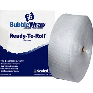 "Sealed Air Bubble Wrap - 12"" Width x 250ft Length - 188mil Thickness - 1 Wrap(s) - Lightweight, Perforated - Clear"
